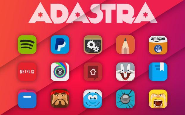 Adastra với hơn 1800 biểu tượng đạt chất lượng HD
