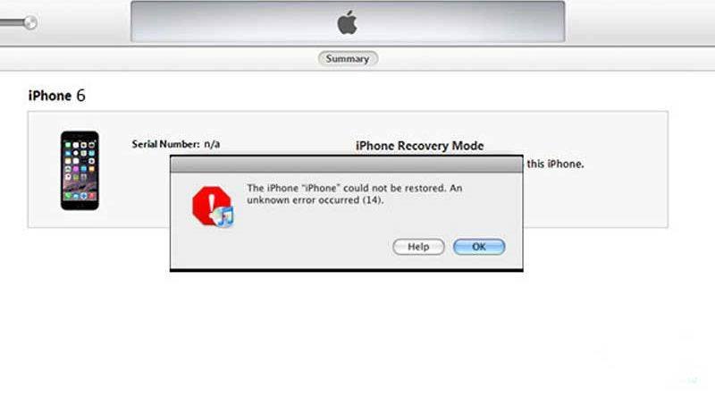 Sửa lỗi 14 khi Restore iPhone