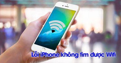 Lỗi iPhone không tìm được wifi