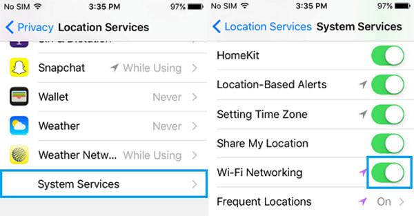 Vô hiệu hóa thiết lập hệ thống Wifi trên máy