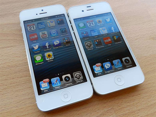 Hãng Apple đã cải thiện kích thước màn hình từ iPhone 5