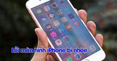 Lỗi màn hình iPhone bị nhoè