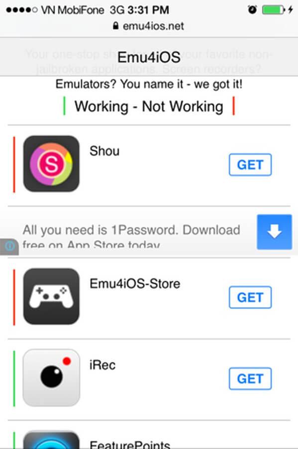 Tìm ứng dụng emu4ios