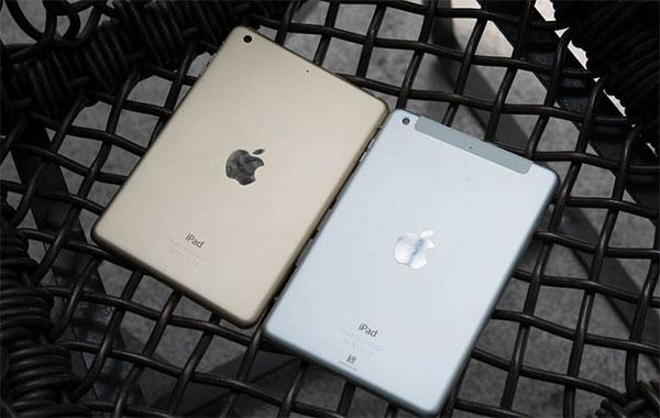 iPad mini 3 có thiết kếkhông có gì khác so với iPad mini 2