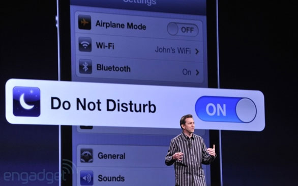 """Sử dụng tính năng """" Do not disturb """" để chặn cuộc gọi"""