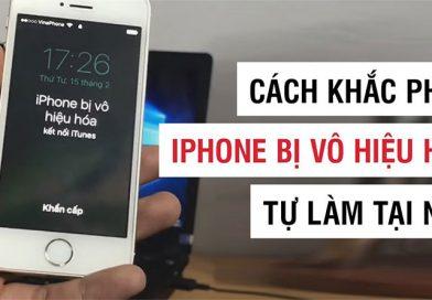 Khắc phục hiện tượng iPhone 5 bị vô hiệu hóa kết nối với iTunes