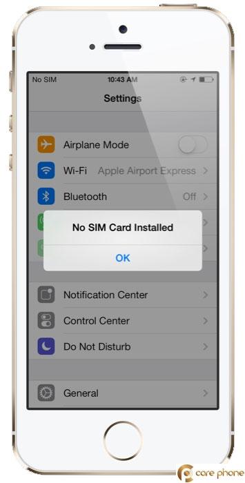 Sửa lỗi iPhone không nhận sim