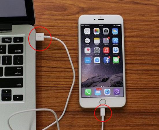 Kết nối điện thoại iPhone vào máy tính