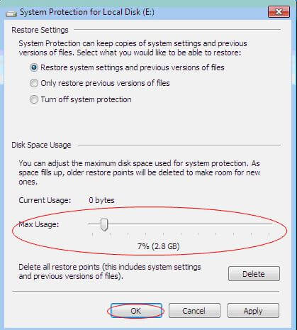 Điều chỉnh mức dung lượng tối đa của ổ cứng lưu trữ