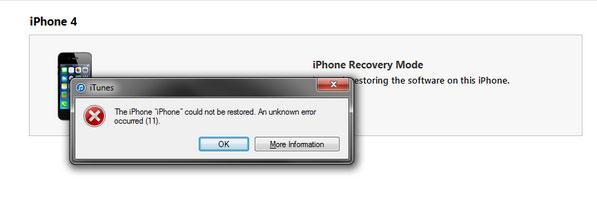 iPhone bị lỗi 11