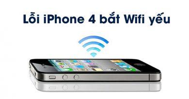 Lỗi iPhone bắt Wifi yếu