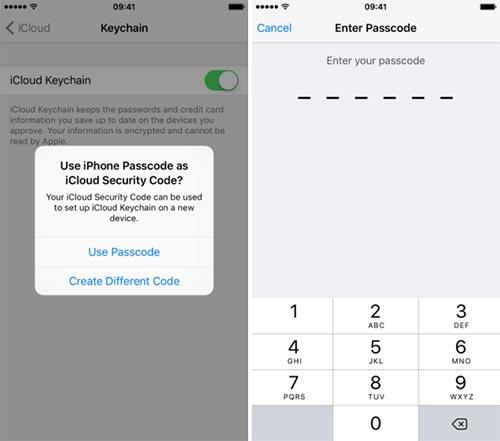 Sử dụng tài khoản iCloud để xóa thông tin Passcode