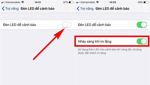 Bật đèn Flash trên iPhone khi có cuộc gọi đến (1)