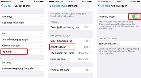 Hướng dẫn cài đặt phím HOME ảo trên iPhone