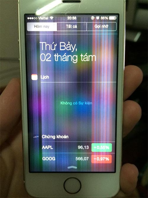 Khắc phục tình trạng bị chớp màn hình iPhone 5s