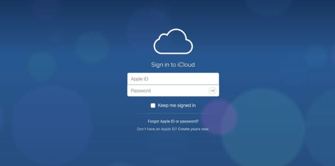 Truy cập website để đăng ký tạo iCloud trên máy tính