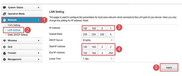 Đổi địa chỉ IP của mạng wifi