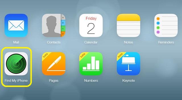 Chọn tính năng Find My iPad