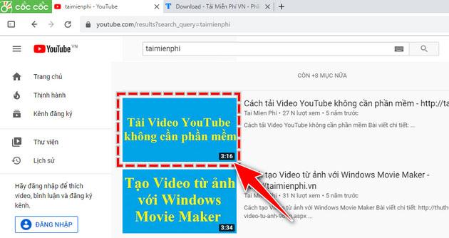 Hướng dẫn tải nhạc Youtube bằng Cốc Cốc (1)