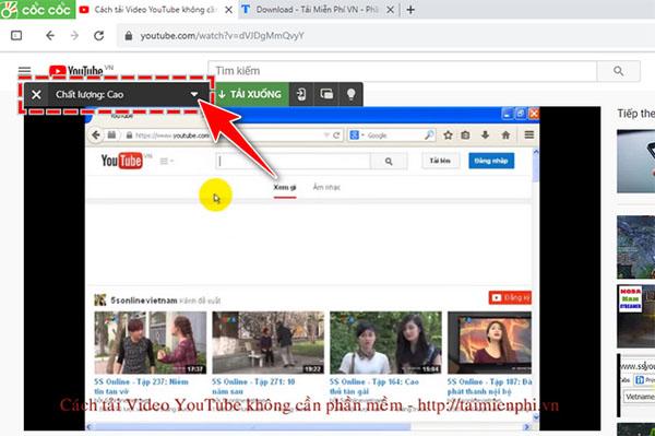 Hướng dẫn tải nhạc Youtube bằng Cốc Cốc (2)