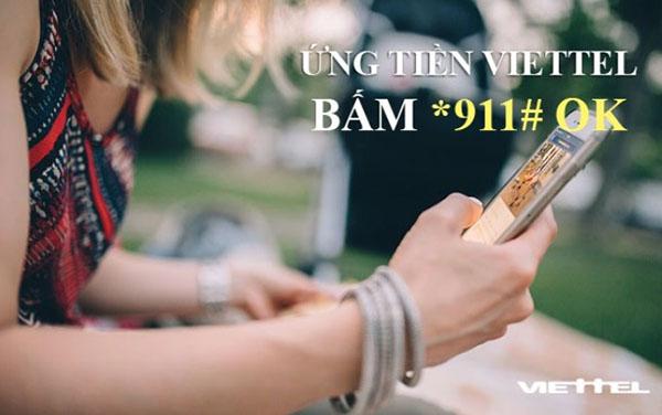 Ứng tiền bằng mã USSD mặc định gửi tới số tổng đài 911
