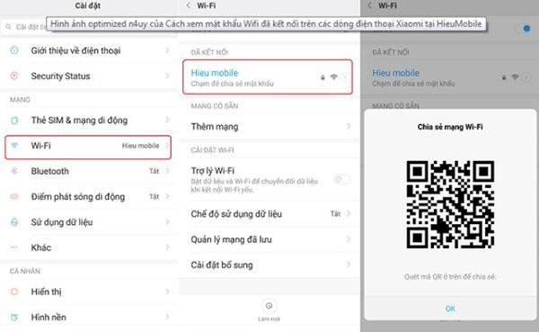 Kiểm tra mật khẩu tại phần Cài đặt điện thoại Android