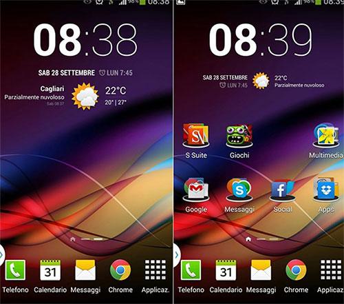 Ứng dụng hiển thị trên điện thoại Chronus: Home & Lock Widgets