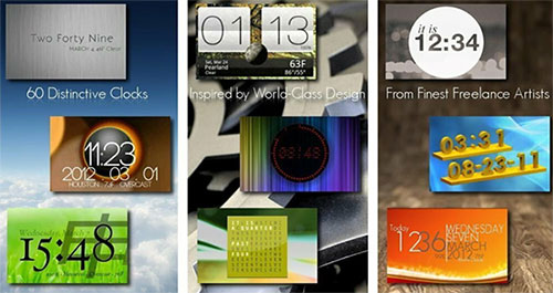 One More Clock Widget sở hữu tới hơn 70 giao diện widget