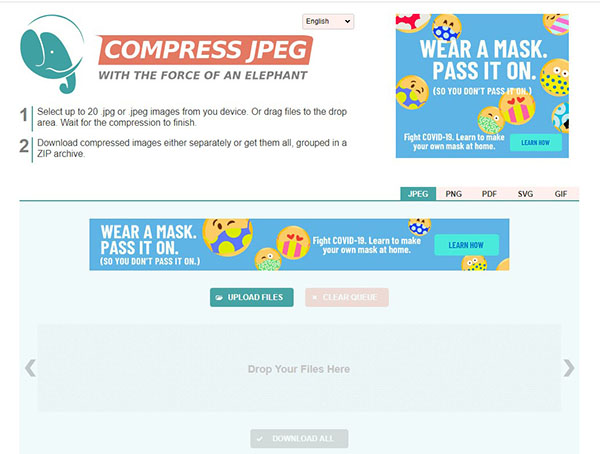CompressJPEG – Nén ảnh JPEG trực tuyến