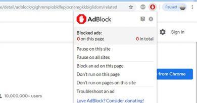 Sử dụng tiện ích mở rộng AdBlock trên máy tính
