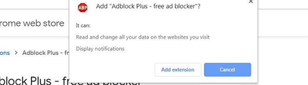 Sử dụng tiện ích mở rộng AdBlock Plus trên máy tính
