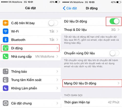 Bật 3G không đúng cách sẽ không vào được 3G trên iPhone 5