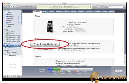Ấn vào Check for Update để tìm kiếm.