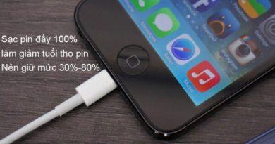 Sạc pin iPhone đúng cách