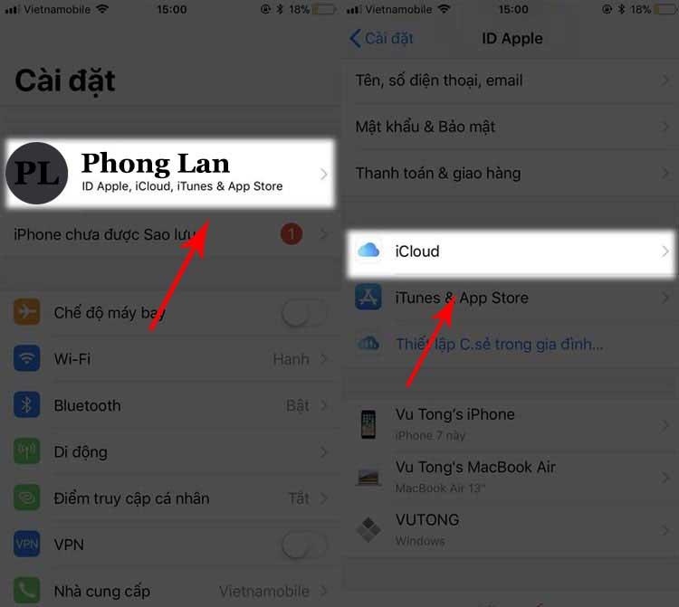 Cách xóa danh bạ trên iPhone 5s (1)