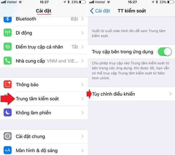 Hướng dẫn cách quay video màn hình iPhone 6 iOS 11 (2)