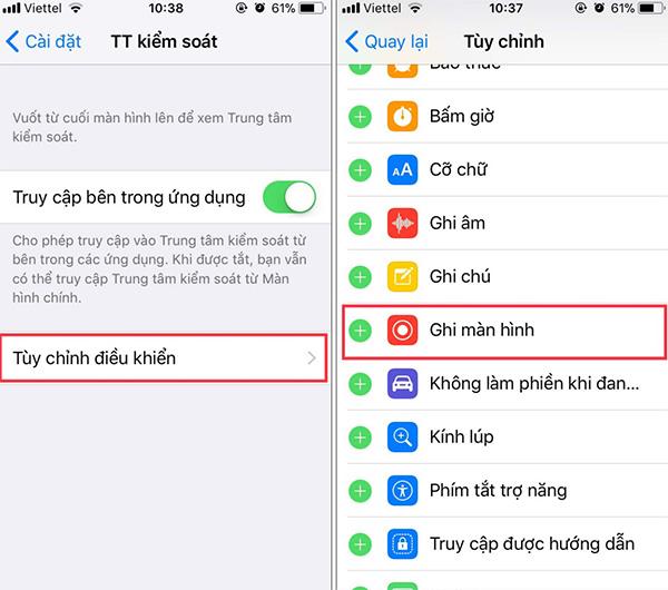 Hướng dẫn cách quay video màn hình iPhone 6 iOS 11 (3)