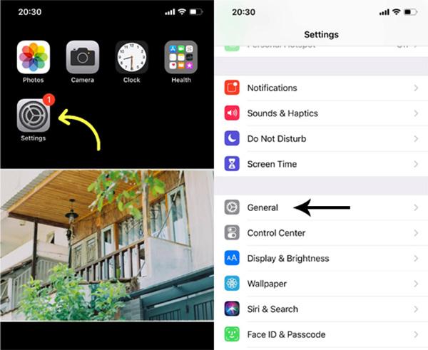 Bật tính năng nút Home ảo trên iPhone