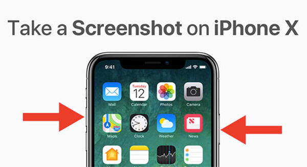 Sử dụng phím cứng: Nguồn + tăng âm lượng để chụp ảnh màn hình iPhone X