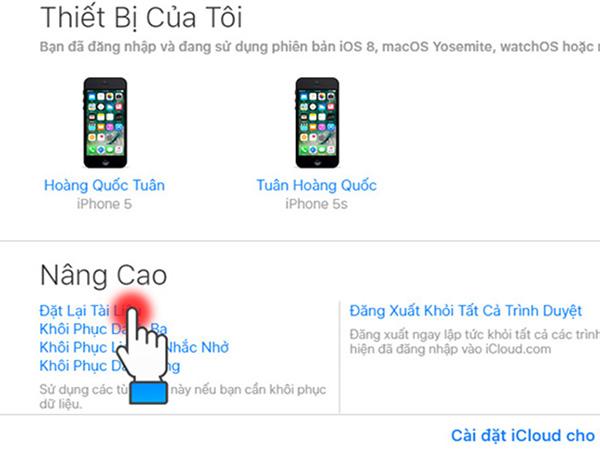 Cách lấy lại ảnh đã xoá trên iphone bằng iCloud (2)