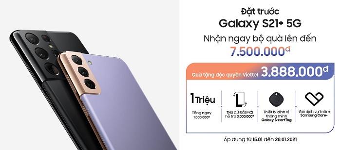 Đặt trước Samsung Galaxy S21 Ultra tại Viettel Store