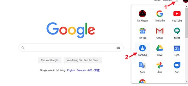 Giai đoạn 2: Sử dụng Google Contacts để nhập nhanh bạ