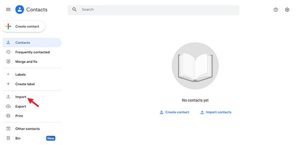 Giai đoạn 2: Sử dụng Google Contacts để nhập nhanh bạ (1)