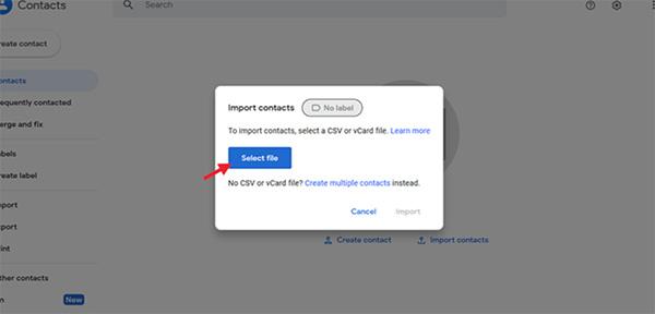 Giai đoạn 2: Sử dụng Google Contacts để nhập nhanh bạ (2)