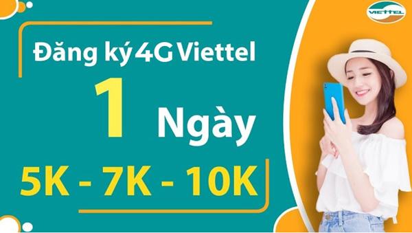Hướng dẫn đăng ký gói cước 4G Viettel ngày