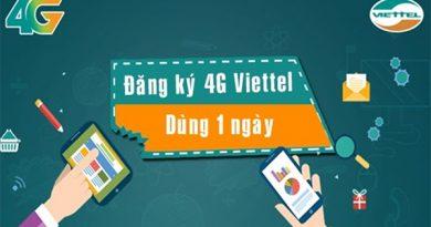 Đăng ký mạng Viettel 1 ngày của 4G 5G Viettel