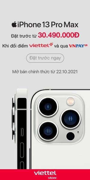 Đặt trước iPhone 13 Pro Max tại Viettel Store
