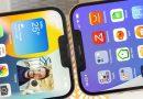 iPhone 13 Pro Max bên trái và iPhone 12 Pro Max bên phải.